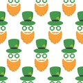 Seamless pattern with St. Patrick`s day icons