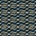 Seamless pattern of stair step lines and parallel segments Royalty Free Stock Photo