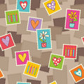 Seamless pattern with stamps vector illustration Stock Images
