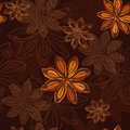 Seamless pattern  with star anise. Stock Image