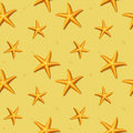 Seamless pattern with starfish vector illustration sandy Royalty Free Stock Images