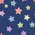 Seamless pattern with stars Stock Image