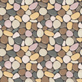 Seamless pattern with stones. Vector seamless background with smooth pebble.