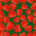 Seamless pattern strawberries. Stock Photo