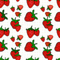 Seamless pattern with a strawberry Royalty Free Stock Photo