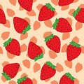 Seamless pattern of strawberry Stock Photography
