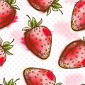 Seamless pattern with strawberry Royalty Free Stock Images