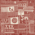 Seamless pattern in style of patchwork Stock Photography