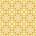 Seamless pattern of stylized flowers and geometrical shapes eps Royalty Free Stock Images