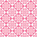 Seamless pattern of stylized hearts and geometrical shapes eps Royalty Free Stock Photos