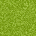 Seamless pattern with stylized leaves on a green background Royalty Free Stock Photography