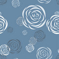 Seamless pattern with stylized roses Royalty Free Stock Image