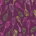 Seamless pattern with stylized tulips Royalty Free Stock Photos