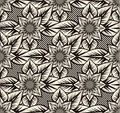 Seamless pattern with sunflowers Royalty Free Stock Image