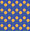 Seamless pattern sunflowers. Royalty Free Stock Images