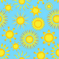 Seamless pattern with suns Royalty Free Stock Photo