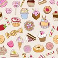 Seamless pattern with sweets. Stock Photos