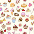 Seamless pattern with sweets. Stock Images