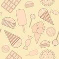 Seamless pattern sweets of the Stock Images