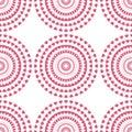 Seamless pattern of swirl pink heart