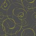 Seamless pattern with swirls