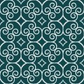 Seamless pattern with swirls and rhombuses Stock Image