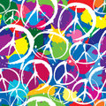 Seamless pattern with symbols of peace Stock Images