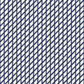 Seamless pattern with symmetric geometric ornament. Nautical blue striped grid abstract repeated wallpaper. Royalty Free Stock Photo