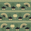 Seamless pattern tea time Stock Images
