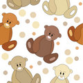 Seamless pattern with teddy bears Royalty Free Stock Images