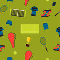 Seamless pattern tennis Royalty Free Stock Photo