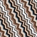 Seamless pattern texture with art d zigzag brown line Stock Photography