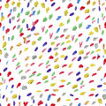 Seamless pattern or texture with colorful polka dots on white background Royalty Free Stock Photo