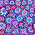 Seamless pattern. Texture with ornament circles mandala Royalty Free Stock Photo