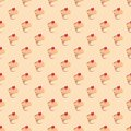 Seamless pattern or texture with sweet cupcakes Royalty Free Stock Images