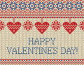Seamless pattern on the theme of holiday Valentine`s Day
