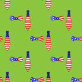 Seamless pattern with ties and bow ties us Stock Images