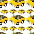 Seamless pattern tile cartoon with toy car Royalty Free Stock Photo