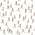 Seamless pattern of tiny marathon runners