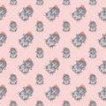 Seamless pattern, baby elephant Royalty Free Stock Photo
