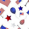 Seamless pattern to the day of independence of the USA.