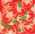 Seamless pattern with tomato Royalty Free Stock Photo