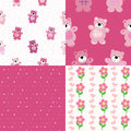 Seamless pattern of a toy teddy bear Royalty Free Stock Image