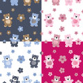 Seamless pattern of a toy teddy bear Stock Images
