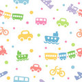 Seamless pattern toy-transport Royalty Free Stock Photos