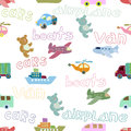 Seamless pattern with toys boys decorative background Royalty Free Stock Photos