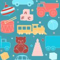 Seamless pattern with toys bright kids Royalty Free Stock Images