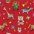 Seamless pattern with toys endless texture can be used for printing onto fabric paper or scrap booking wallpaper fills web Royalty Free Stock Photography