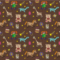 Seamless pattern with toys endless texture can be used for printing onto fabric paper or scrap booking wallpaper fills web Royalty Free Stock Images