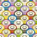 Seamless pattern of japanese Daruma dolls. Royalty Free Stock Photo